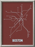 Boston Prints by  Line Posters