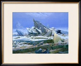 The Polar Sea, 1824 Framed Giclee Print by Caspar David Friedrich