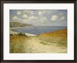Strandweg zwischen Weizenfeldern bei Pourville, 1882 Gerahmter Giclée-Druck von Claude Monet