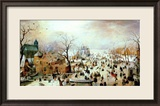 Winter Games Estampe encadrée par Hendrik Avercamp