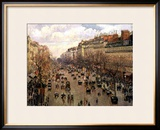Boulevard Montmartre, Afternoon Sun, 1897 Framed Giclee Print by Camille Pissarro