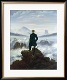 Le Voyageur contemplant une mer de nuages, vers1818 Estampe encadrée par Caspar David Friedrich