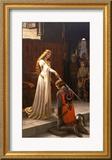 The Accolade, 1901 Gerahmter Giclée-Druck von Edmund Blair Leighton