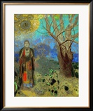 The Buddha, 1906-1907 Estampe encadrée par Odilon Redon