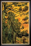 Pine Trees Against a Red Sky with Setting Sun Affiches par Vincent van Gogh