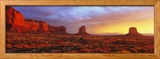 Sunrise, Monument Valley, Arizona, USA Ingelijste fotodruk van Panoramic Images,