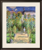 The Artist's Garden at Vetheuil, 1880 Reproduction giclée encadrée par Claude Monet