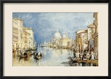 The Grand Canal, Venice, with Gondolas and Figures in the Foreground, circa 1818 Gerahmter Giclée-Druck von J. M. W. Turner