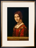 Portrait of a Lady from the Court of Milan, circa 1490-95 Framed Giclee Print by  Leonardo da Vinci