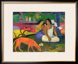 Arearea, 1892 Framed Giclee Print by Paul Gauguin
