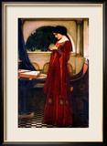 The Crystal Ball, 1902 Gerahmter Giclée-Druck von John William Waterhouse