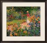 Garden at Giverny, 1895 Gerahmter Giclée-Druck von Claude Monet