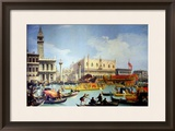 The Betrothal of the Venetian Doge to the Adriatic Sea, circa 1739-30 Framed Giclee Print by  Canaletto