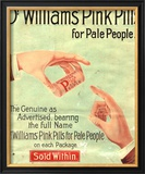 Dr Williams Pin Pills Medical Medicine, UK, 1890 Affiches