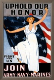Uphold Our Honor, Join Army, Navy, Marines Art