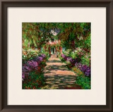 A Pathway in Monet&#39;s Garden, Giverny, 1902 Framed Giclee Print by Claude Monet