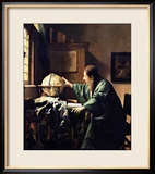 L&#39;astronome, 1668 Estampe encadr&#233;e par Jan Vermeer