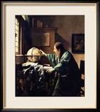 The Astronomer, 1668 Gerahmter Giclée-Druck von Jan Vermeer