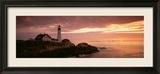 Portland Head Lighthouse, Cape Elizabeth, Maine, USA Gerahmter Fotografie-Druck von  Panoramic Images
