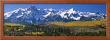 Mountains Covered in Snow, Sneffels Range, Colorado, USA Framed Photographic Print by  Panoramic Images