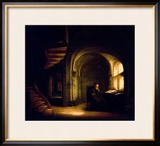 Philosopher with an Open Book, 1625-7 Framed Giclee Print by Rembrandt van Rijn