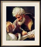 Saint Matthew Gerahmter Giclée-Druck von Guido Reni