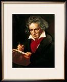 "Ludwig Van Beethoven (1770-1827) Composing His ""Missa Solemnis"" Framed Giclee Print by Josef Karl Stieler"