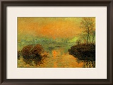 Setting Sun on the Seine at Lavacourt, Effect of Winter, 1880 Framed Giclee Print by Claude Monet