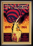 Noces d&#39;Argent del F.C. Barcelona Prints by J. Segrelles