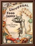 Food Choppers Mincers the Universal Cooking Appliances Gadgets, USA, 1890 Kunstdrucke