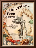 Food Choppers Mincers the Universal Cooking Appliances Gadgets, USA, 1890 Poster