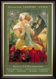 Biscuits Lu Recommandes Posters by Alphonse Mucha