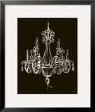 Elegant Chandelier I Framed Giclee Print by Ethan Harper