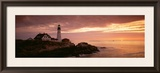 Portland Head Lighthouse, Cape Elizabeth, Maine, USA Framed Photographic Print by  Panoramic Images
