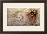 Sketch of a Roaring Lion Framed Giclee Print by  Leonardo da Vinci