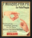 Dr Williams Pin Pills Medical Medicine, UK, 1890 Prints