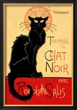 Tournee du Chat Noir Avec Rodolptte Salis Kunst av Théophile Alexandre Steinlen