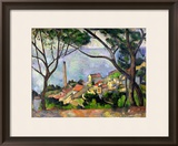The Sea at L'Estaque, 1878 Framed Giclee Print by Paul Cézanne