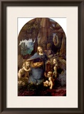 The Virgin of the Rocks (With the Infant St. John Adoring the Infant Christ) circa 1508 Framed Giclee Print by Leonardo da Vinci