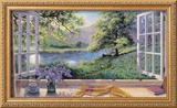Bluebells Framed Giclee Print by Stephen Darbishire