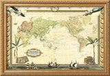 Adventure Map Framed Giclee Print by  Vision Studio