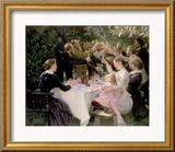 Hip Hip Hurra! Künstlerfest in Skagen, 1888 Gerahmter Giclée-Druck von Peder Severin Kröyer