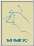 San Francisco Prints by  Line Posters