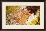 Die Umarmung, 1917 Gerahmter Giclée-Druck von Egon Schiele