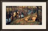 The Naiad, 1893 (Hylas with a Nymph) Gerahmter Giclée-Druck von John William Waterhouse