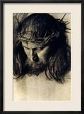 Head of Christ, circa 1890 Gerahmter Giclée-Druck von Franz von Stuck
