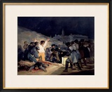 Execution of the Defenders of Madrid, 3rd May, 1808, 1814 Framed Giclee Print by Francisco de Goya