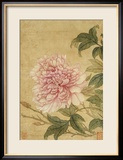 Peony Lmina gicle enmarcada por Yun Shouping