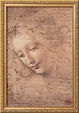 Female Head (La Scapigliata), c.1508 Framed Giclee Print by  Leonardo da Vinci