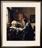 The Astronomer, 1668 Framed Giclee Print by Jan Vermeer